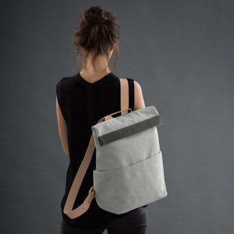 VANOOK Backpack RegularGrey/Nude