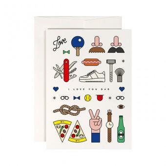 redfries cool dad – Klappkarte DIN A6 mit Umschlag