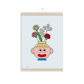 redfries flower head a3 – Kunstdruck DIN A3