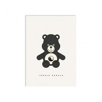 redfries yin yang bear –Postkarte DIN A6