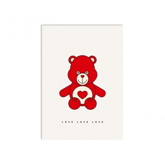 redfries love bear – Postkarte DIN A6