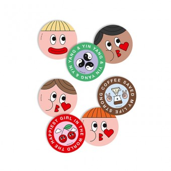 redfries stickers girls crush – Aufkleberset