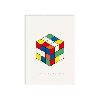 redfries magic cube – Postkarte DIN A6