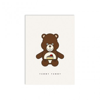 redfries yummy bear – Postkarte DIN A6