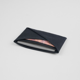 VANOOK Card Case Horizontal / Charcoal