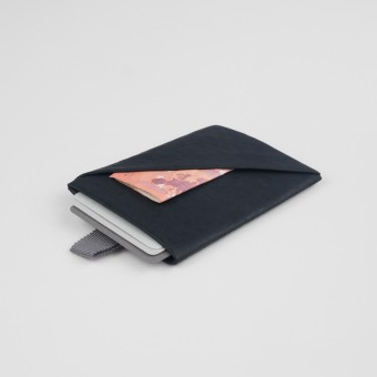VANOOK Card Case Vertical / Charcoal