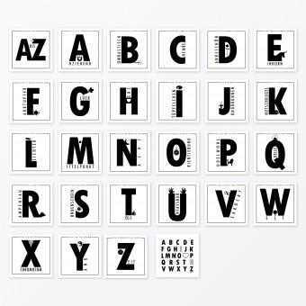 """TYPOP 27-teiliges Set ABC-Karten """"Ich liebe Dich von A-Z"""" quadratisch inkl. Verpackung"""