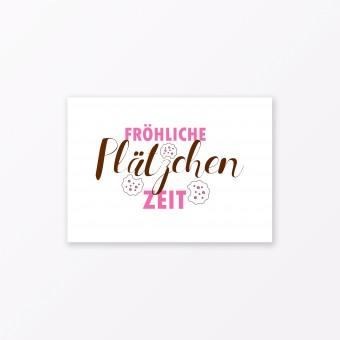 """TYPOP Postkarte """"Fröhliche Plätzchenzeit"""" DIN A6"""