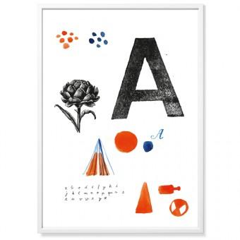 TYPE HYPE Poster Mitte Alphabet (50 x 70 cm)