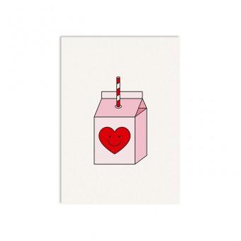 redfries breakfast club –Postkarte DIN A6 Liebe & Freundschaft