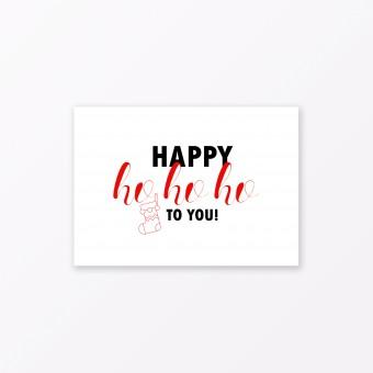 "TYPOP Postkarte ""Happy Ho Ho Ho"" DIN A6"