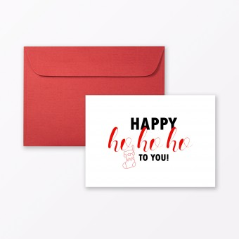 "TYPOP Postkarte ""Happy Ho Ho Ho"" DIN A6 inkl. Umschlag"
