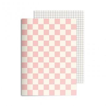 redfries checkered rose – Notizheft DIN A5, 2 Stück