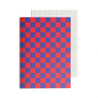 redfries checkered mars – Notizheft DIN A5, 2 Stück