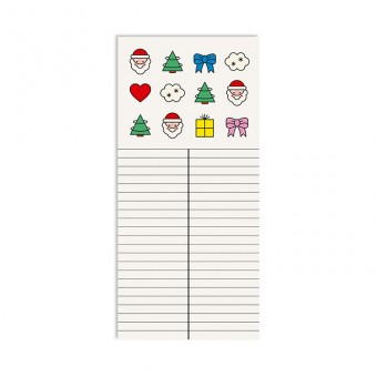 redfries wishlist –Notizblock DIN lang, 2 Stück, Weihnachten