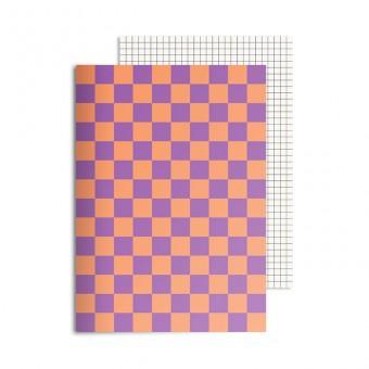 redfries checkered melmac – Notizheft DIN A5, 2 Stück