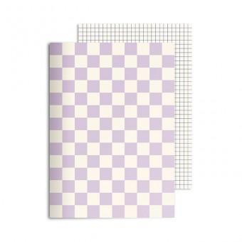 redfries checkered lavender – Notizheft DIN A5, 2 Stück