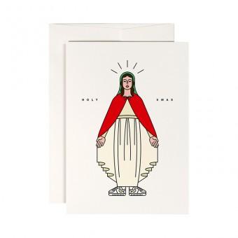 redfries holy mary – Klappkarte DIN A6 mit Umschlag, 3 Stück, Weihnachten