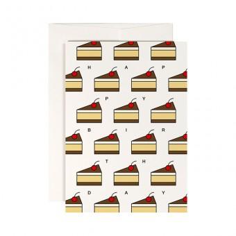 redfries cake invaders – Klappkarte DIN A6 mit Umschlag, 3 Stück, Geburtstag