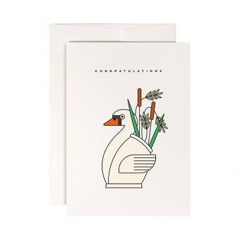 redfries swan lake – Klappkarte DIN A6 mit Umschlag, 3 Stück