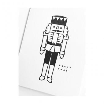 redfries black nutcracker – Letterpress-Klappkarte DIN A6 mit Umschlag Weihnachten