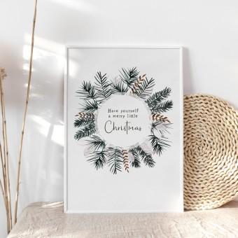 Paperlandscape | Aquarell Kunstdruck | Festlicher Weihnachtsbaum | Weihnachtsposter | verschiedene Größen