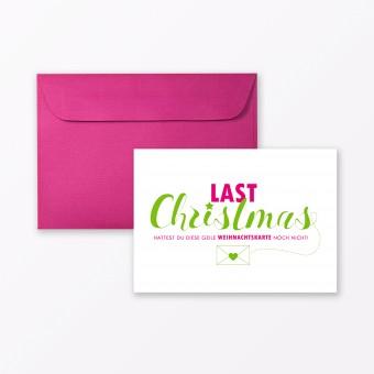 "TYPOP Postkarte ""Last Christmas"" DIN A6 inkl. Umschlag"