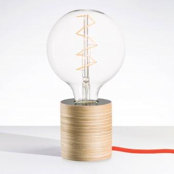 """Lichtliebe Tischleuchte """"Fafoo"""" in steingrau und dunkelorange inkl. Edison Spiral LED im Retro Design mit nur 1,8 Watt"""