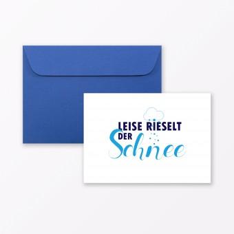 """TYPOP Postkarte """"Leise rieselt der Schnee"""" DIN A6 inkl. Umschlag"""