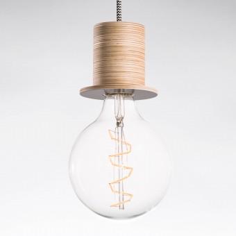 """Lichtliebe Pendelleuchte """"Fafoo"""" in steingrau und schwarz-weiß inkl. Edison Spiral LED im Retro Design  und nur 1,8 Watt"""