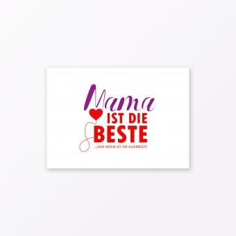 "TYPOP Postkarte ""Mama ist die Beste"" DIN A6"