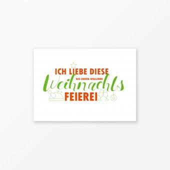 """TYPOP Postkarte """"Weihnachtsfeierei"""" DIN A6"""