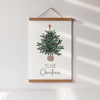 Paperlandscape | Aquarell Kunstdruck | Weihnachtsbaum mit Spruch | verschiedene Größen