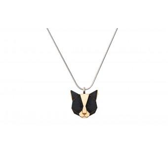 """BeWooden Halskette mit Anhänger mit Tiermotiv """"Black Cat Pendant"""""""