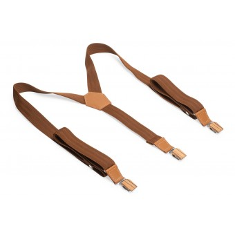 BeWooden Hosenträger - Cognac Suspenders