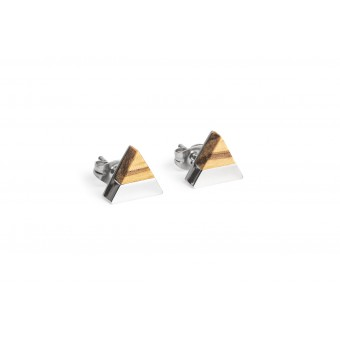 BeWooden Ohrringe - Ohrstecker mit Holzdetail - Lini Earrings Triangle