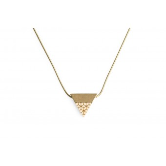 Halskette Liti Necklace Triangle von BeWooden