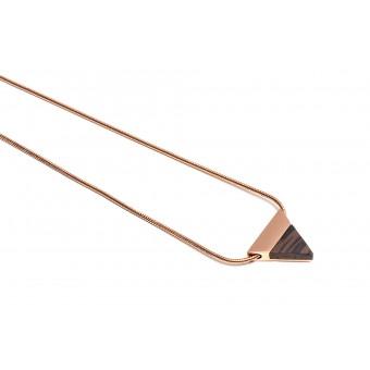 BeWooden - Kette mit Anhänger - Rose Necklace Triangle