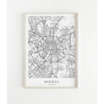 MOSKAU als hochwertiges Poster im skandinavischen Stil von Skanemarie