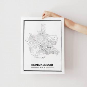 BERLIN Reinickendorf Poster Stadtplan von Skanemarie
