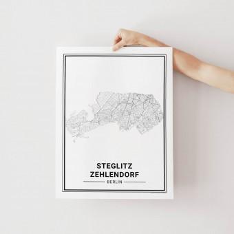BERLIN Steglitz Zehlendorf Poster Stadtplan von Skanemarie
