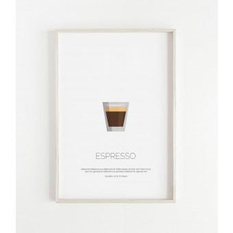 ESPRESSO Poster im minimalistischen Stil von Skanemarie
