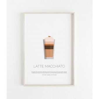 LATTE MACCHIATO als hochwertiges Poster im skandinavischen Stil von Skanemarie