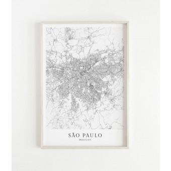 SÃO PAULO als hochwertiges Poster im skandinavischen Stil von Skanemarie