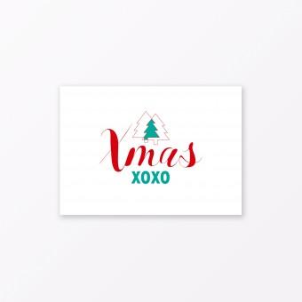 "TYPOP Postkarte ""Xmas XOXO"" DIN A6"
