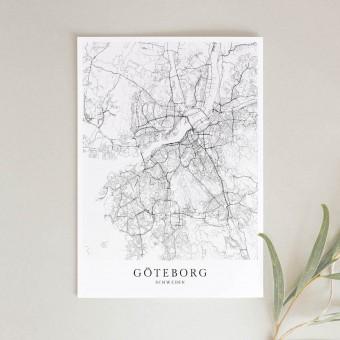 GÖTEBORG als hochwertiges Poster im skandinavischen Stil von Skanemarie
