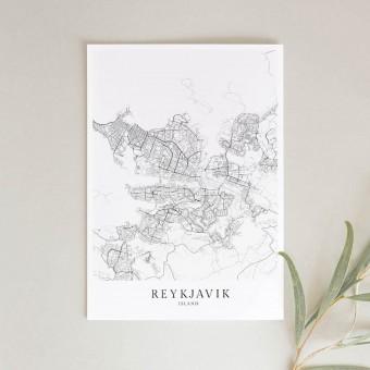REYKJAVÍK als hochwertiges Poster im skandinavischen Stil von Skanemarie