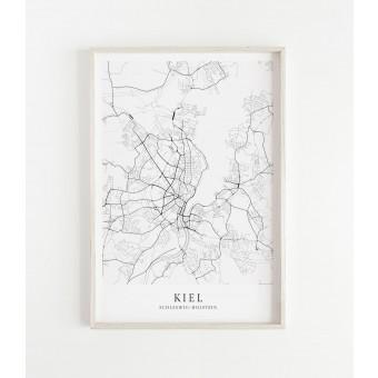 Karte KIEL als Print im skandinavischen Stil von Skanemarie +++ Geschenkidee zu Weihnachten