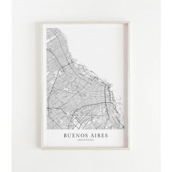 Karte BUENOS AIRES als Print von Skanemarie