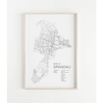 Karte BERLIN SPANDAU als Print im skandinavischen Stil von Skanemarie